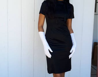 Vintage 1960 beautiful black dress little black dress FREE SHIPPING size 4 from RCMooreVintage