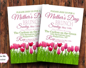 Mother's Day Brunch Invitation, Brunch Invite, Mother's Day Invite, Tulip Invitation, Spring Invitation, Shower Invitation, Spring Shower