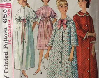 Simplicity 5726 vintage 1960's misses robe sewing pattern size 14 bust 34