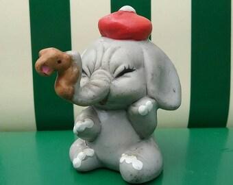 Vintage Elephant and Mouse Figurine