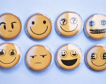 "Smile (Doctor Who) Inspired Emoji 1.5"" Button Set"
