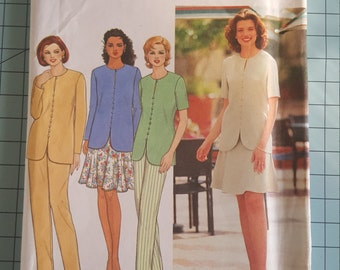 Simplicity 7238 Misses Top, Pants and Six Gore Skirt Size 12-16