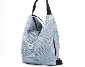 blue backpack canvas backpack bag - gym backpack - sack bag - sports bag - cotton backpack - vegan backpack - urban backpack - PETELBP