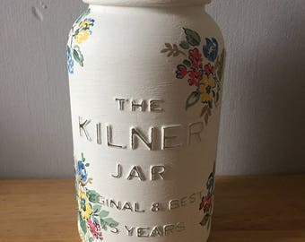 Handfinished Special Edition Kilner Jar Decopaged With Cath Kidston Floral Tissue- Highgate Rose