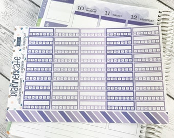 APR-69 || Individual Habit Stickers for Planner - April EC Color Scheme (45 Removable Matte Stickers)