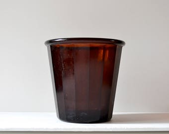 UGB glass planter made in the 1930's. For medium sized plants a strong and robust plant pot.