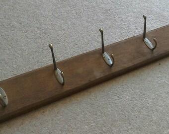Handmade flat backed Coat Hook Rack