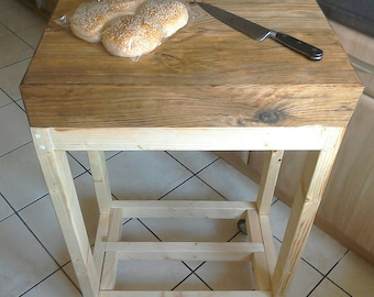 Solid Chunky, Rustic, Butchers Block Trolley