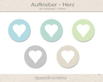 Sticker Heart-24 mm