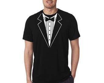 Tuxedo shirt, Men shirt, Fake tuxedo shirt, Groom shirt, Bachelor party shirt, Fun Shirt, Gift For Him, Custom Shirt