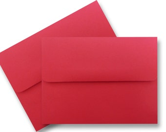 Holiday Red 100 Boxed 60lb Envelope for Invitations Cards Announcements Response Showers Weddings Astrobrights Re-Entry Red  A1 A2 A6 A7