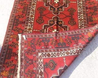 25%OFF SALE Size:6 ft by 3.10 ft Handmade Rug Afghan Tribal Vintage Baluch Carpet