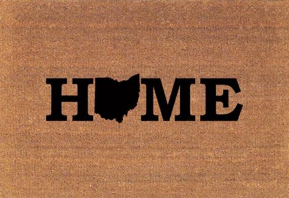 Ohio Home State Door Mat Coir Doormat Rug 2 X 2