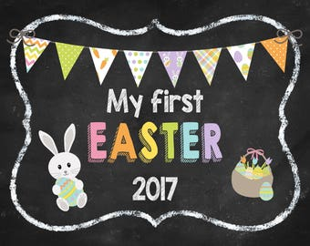 My First Easter Print, Instant Download, Printable, Artwork, Photo Prop