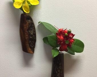 Handcrafted Hawaiian Koa Wood Refrigerator Magnet Made In Hawaii