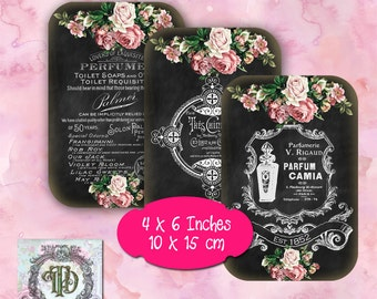 10 French Chalk Board Tags