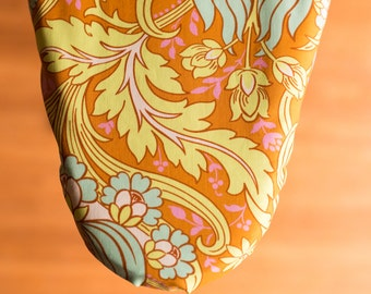 Aqua Blooms Ironing Board Cover
