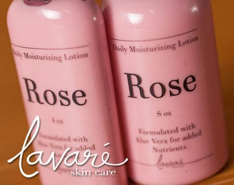Rose Lotion, Body Lotion, Hand Lotion, Aloe Vera Lotion, Natural Lotion, Floral Lotion, Homemade Lotion, Daily Moisturizing Lotion, Lotion