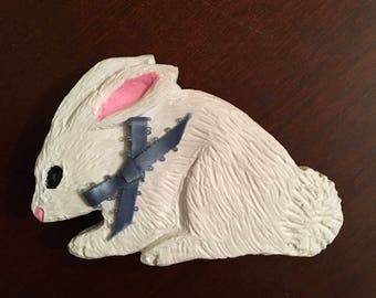 Bunny magnet etsy bunny magnet refrigerator magnet magnetic clipeaster spring gifts under 10 dollars negle Gallery