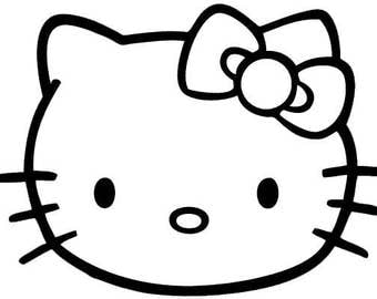 Hello Kitty Car Decal Etsy