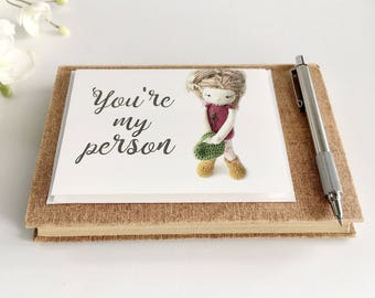 Sweet Father's Day Card - You're My Person - Anniversary Greeting Card, Love Card, My Person