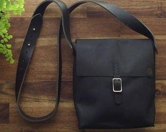 Everyday Satchel - Genuine Leather Satchel - DIY Kit - Leather Bag - Hand Stitched - Full Grain Leather - Craft Kit - Crafts