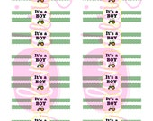 Printable Cigar Wrappers- It's a Boy, Tractor Theme, INSTANT DOWNLOAD