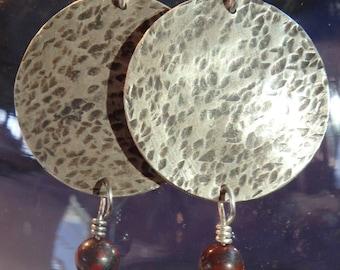 Sterling Silver Disc Earrings