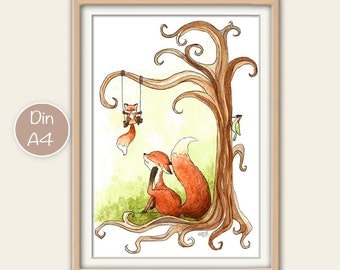 Children posters foxes