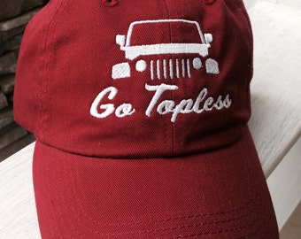Jeep Go Topless Hat / Jeep Hat / Jeep Accessories / Jeep Hair