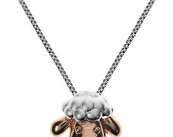 Sterling Silver Rose Gold Sheep Pendant Necklace