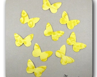 Wings Butterfly silk yellow harmony stickers