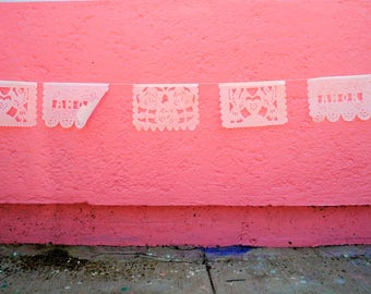 amor banners, papel picado flags, mexican flags, wedding decor, medium
