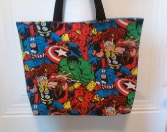 Superheros tote bag