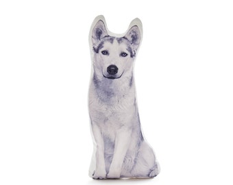 Husky, Husky Dog, Husky Pillow, Husky Gifts, Siberian Husky, Stuffed Dog, Dog Decor, Dog Lovers Gifts, Alaskan, Pet Pillow, Dog Gift