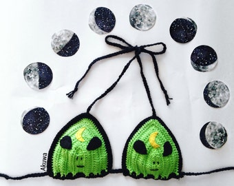 Alien Moon crochet top
