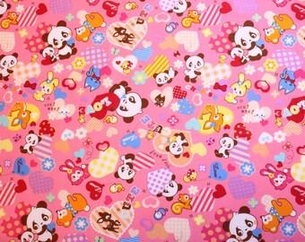 fat eighth, fat quarter, 1/2 meters / Japanese fabric / kawaii fabric / retro fabric / kitch fabric / panda fabric / animal fabric /