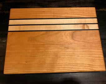 Cherry, Maple & Ebony Cutting Board