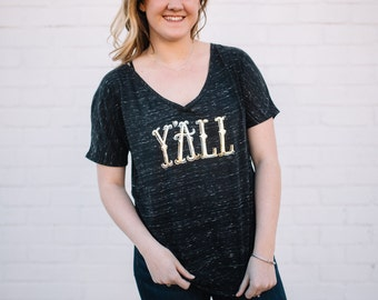 Y'all V-Neck Tee