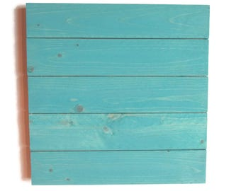 Rustic Aqua Wood Sign Blank