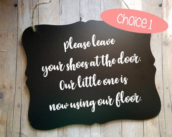 Welcome Sign - Please Leave Your Shoes At The Door Sign - Take Off Your Shoes - Entry Way - Entry Room - Home Decor - Foyer Sign