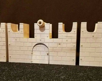 Wooden castle, midevil castle, play set, wooden play set, wooden play castle, pretend castle, open ended castle, doll house, pretend play