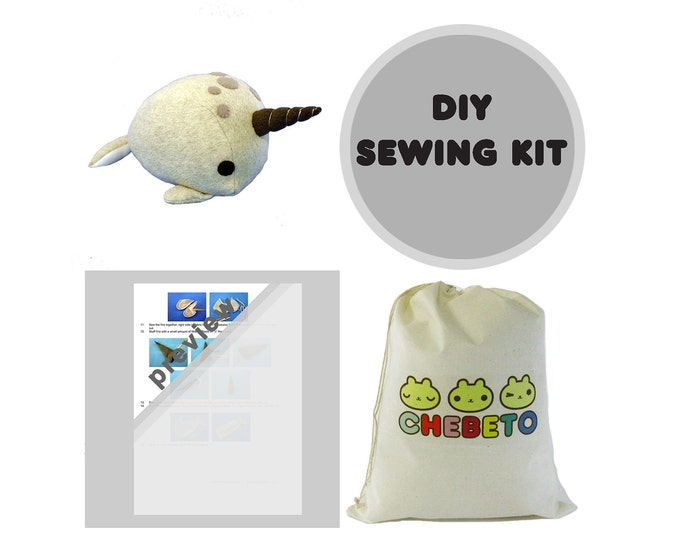 Stuffed Narwhal Sewing Pattern