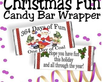 Fun Christmas Candy Bar Wrapper Printable