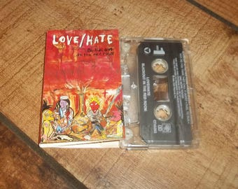 Love/Hate Cassette Tape, Blackout In The Red Room, Hard Heavy Metal, Glam Rock, Jizzy Pearl, Metal Sludge, Bang Tango, Ratt Related