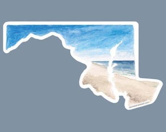 Ocean City Maryland Car Decal - Maryland State Decal - Maryland Sticker - Home State Decal - OCMD Decal - Ocean City MD - Maryland Pride