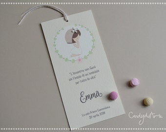 First communion card child-First Communion bookmark
