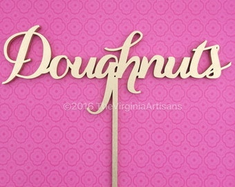 Doughnuts Table Sign - Events Table Sign - Elegance Line - Donuts Sign - Donuts Wall Decor