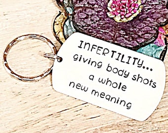 Infertility Jewelry, Infertility Gift Idea, IVF Gift,  Fertility Jewelry, Fertility Gifts, TTC, PCOS, Funny Fertility Keychain,Conceive