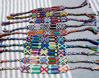WIDE Tribal Friendship Bracelet, Woven Bracelet, Boho Friendship Bracelet, Aztec Bracelet, Hippie Friendship Bracelet